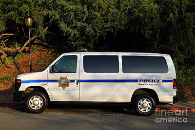 Police Van Photograph - Uc Berkeley Campus Police Van  . 7d10180 by Wingsdomain Art and Photography