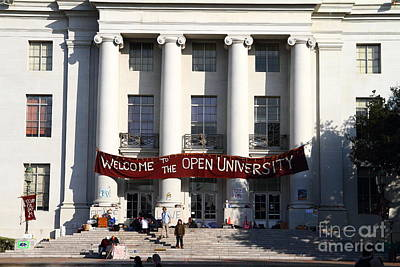 Uc Berkeley . Sproul Hall . Sproul Plaza . Occupy Uc Berkeley . 7d9991 Art Print by Wingsdomain Art and Photography