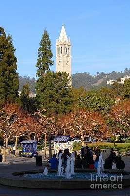 Uc Berkeley . Sproul Plaza . Sather Gate . 7d9998 Art Print by Wingsdomain Art and Photography