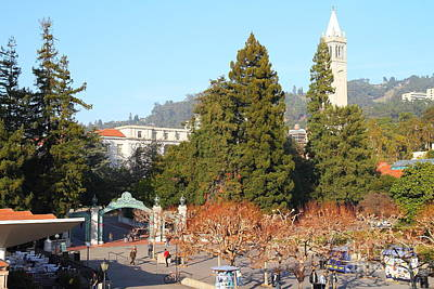 Uc Berkeley . Sproul Plaza . Sather Gate And Sather Tower Campanile . 7d10015 Art Print by Wingsdomain Art and Photography