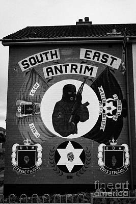 Uda Uff Loyalist Terrorist Wall Mural Monkstown County Antrim  Art Print