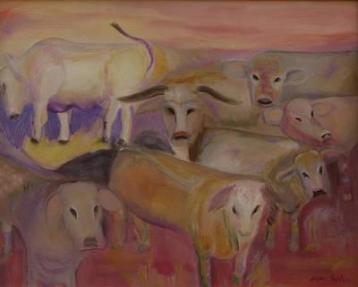 Udderly Different Art Print by Susan Hanlon