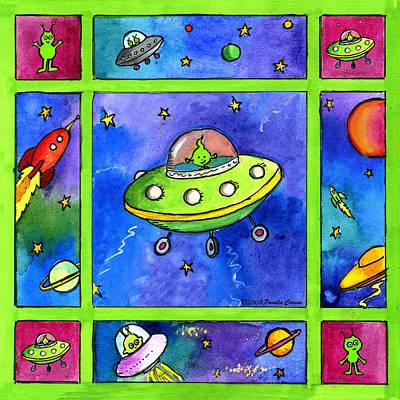 Painting - UFO by Pamela  Corwin