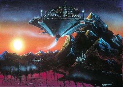 Painting - UFO by Richard Mordecki