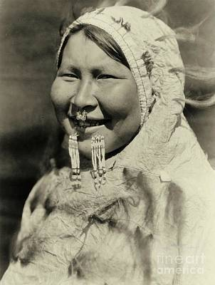 Pierced Ears Photograph - Ugiyaku Of The Nunivak by Padre Art