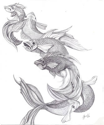 Wiccan Drawing - Ugly Fish by Lorelei  Marie