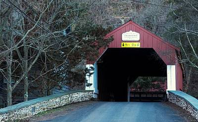 Photograph - Uhlerstown Covered Bridge by Elsa Marie Santoro