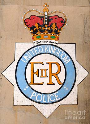 Uk Police Crest Print by Unknown