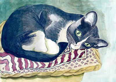 Cat Painting - Ulisse by Acqu Art