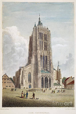 Ulm Photograph - Ulm Cathedral, 19th C by Granger