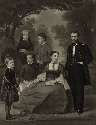 Ulysses S. Grant With His Family When Art Print