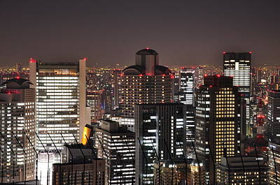 Umeda Night View Art Print by Onejoshuatree