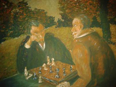 Painting - Umetnici by Lazar Caran
