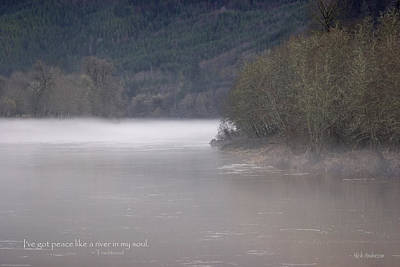 Photograph - Umpqua River Fog by Mick Anderson