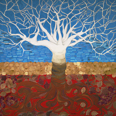 Un Rooted Leaving All Art Print by Claudia French