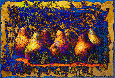 Digital Art - Unborn Pears by David Clanton