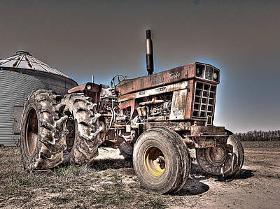 Uncle Carly's Tractor Art Print by William Fields