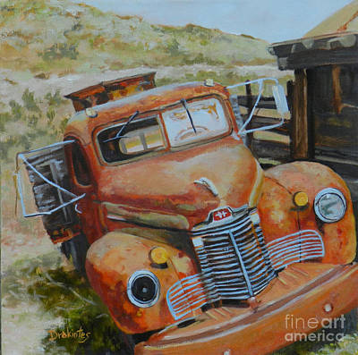 International Harvester Truck Painting - Under A Big Sky by Alicia Drakiotes