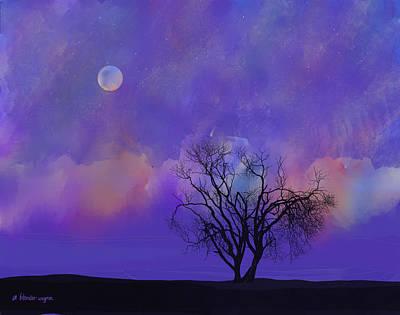 Ski Digital Art - Under A Purple Sky by Arline Wagner