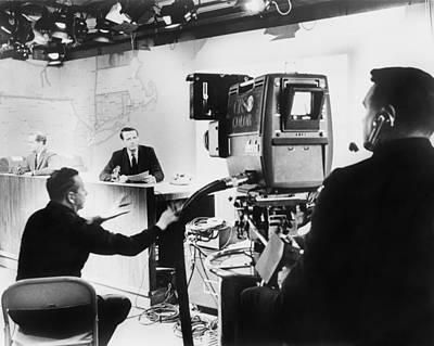 Talking Heads Photograph - Under Hot Studio Lights, A Cbs News by Everett