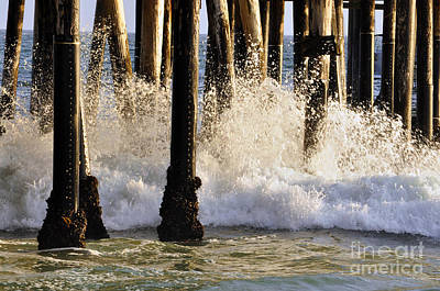 Photograph - Under Pier Surf by Clayton Bruster