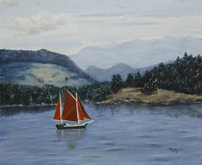 Painting - Under Sail In The San Juans by Alan Mager