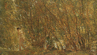 Under The Alders Art Print by Childe Hassam