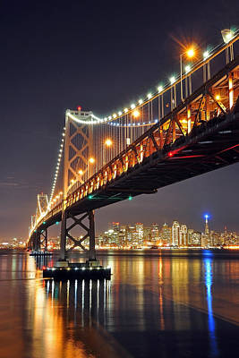 Under The Bay Bridge Art Print by Jessie Dickson