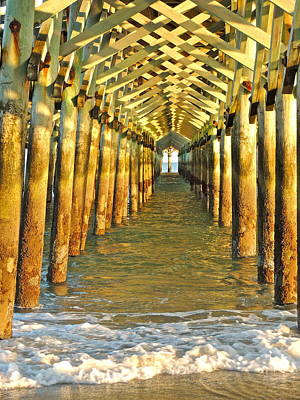 Photograph - Under The Boardwalk by Eve Spring