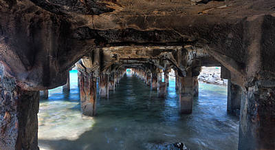 Under The Boardwalk Art Print by James Roemmling