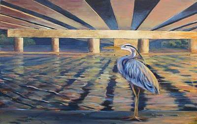 Painting - Under The Bridge by Art Nomad Sandra  Hansen