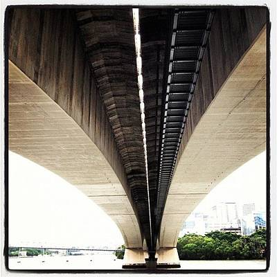 Angle Photograph - Under The Bridge #brisbane #bridge by Ben Gardner