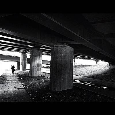 Light Wall Art - Photograph - Under The Bridge#bw# #walk #light by A Rey