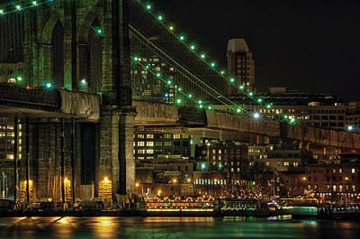 Photograph - Under The Brooklyn Bridge by Steven Mancinelli
