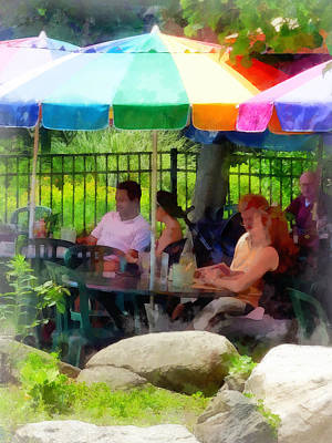 Photograph - Under The Colorful Umbrellas by Susan Savad