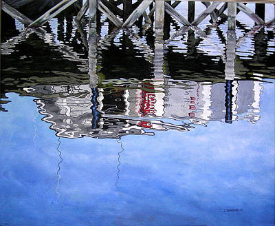 Under The Dock Art Print by Judy Burgarella