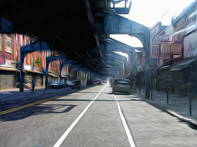 Under The El Art Print by Bill Cannon