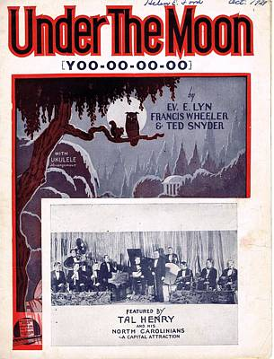 Old Sheet Music Photograph - Under The Moon by Mel Thompson