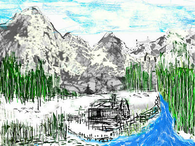Under The Mountain Art Print by Rc Rcd
