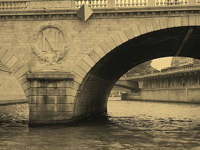 Photograph - Under The Paris Bridge by Diane Height