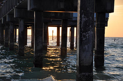 Under The Pier Art Print by Bill Cannon