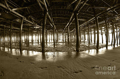 Wood Pylons Photograph - Under The Pier by Micah May
