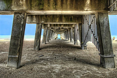 Photograph - Under The Pier On Tybee Island by Tammy Wetzel