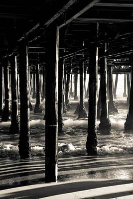 Pier Photograph - Under The Santa Monica Pier II by Heidi Reyher