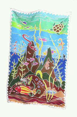 Silk Wall-hanging Painting - Under The Sea by Rollin Kocsis