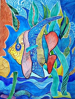 Painting - Under The Sea by Sandra Lira