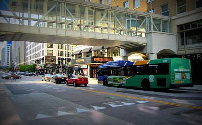 Photograph - Under The Skywalk - Bus by Anita Burgermeister
