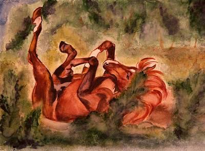 Horse Painting - Under The Sun by Elena Melnikova