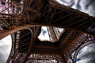 Art Print featuring the photograph Under The Tower by Edward Myers