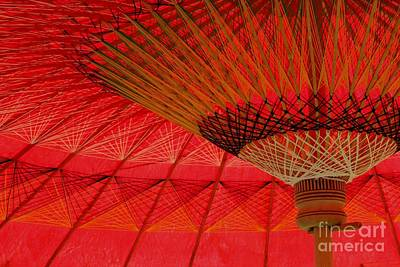 Art Print featuring the photograph Under The Umbrella by Nola Lee Kelsey